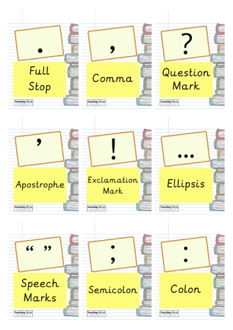 Short notes on punctuation marks
