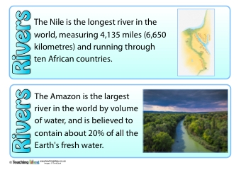 Rivers Fact Cards | Teaching Ideas