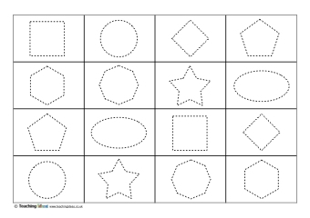 Shape Tracing Teaching Ideas