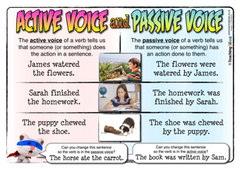 Active Voice And Passive Voice Teaching Ideas