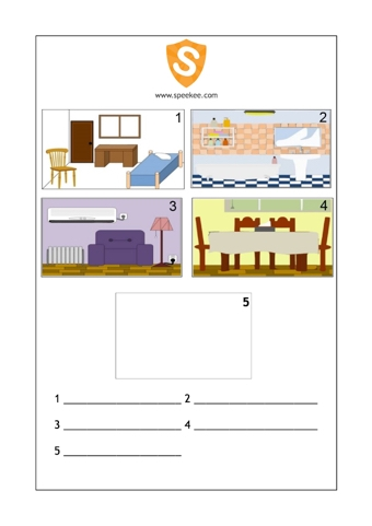 Rooms in a house teaching ideas for Spanish house names suggestions