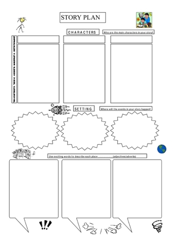 Narrative story for grade 5 graphic organizers for for Story planner free