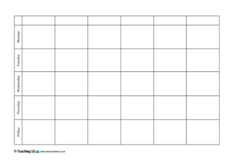 Editable timetables teaching ideas for Timetable templates for teachers