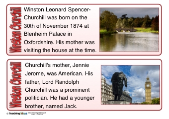 Winston Churchill Fact Cards