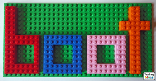 Letter Building with Lego