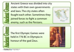 Ancient Greece Fact Cards