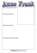 Anne Frank - Biography Template