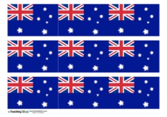 Australia Flag Display Border