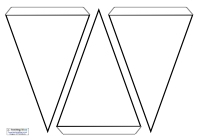 Blank Bunting Template