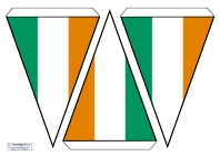 image relating to Flag of Ireland Printable named Bunting - Place Flags Schooling Tips