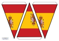 graphic relating to Printable Spanish Flag named Bunting - Nation Flags Training Recommendations