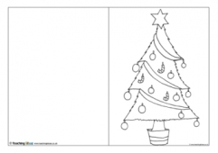 Christmas Card Template - Christmas Tree