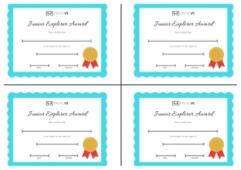 Certificates - Junior Explorer