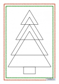 Christmas Tree Triangles Puzzle 1 (easy)