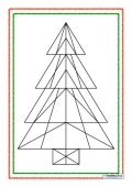 Christmas Tree Triangles Puzzle 3 (challenging)