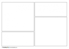photo about Printable Comic Strips titled Comedian Strip Templates Schooling Tips