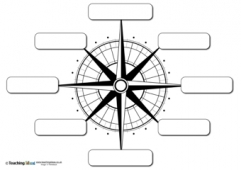 Compass Directions - 8 points - Blank