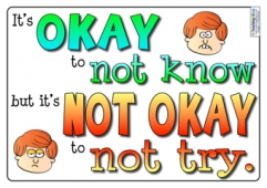 It's okay to not know...
