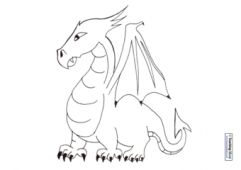 Dragon Colouring Page