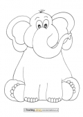 Elephant Colouring Page
