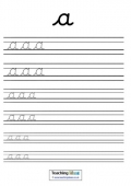 Cursive Letters with Lines