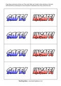 Safe and Unsafe Game Cards