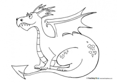 George and the Dragon Colouring Pages