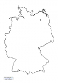 Germany Map Outline