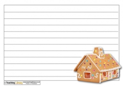 Gingerbread House Recipe Sheet