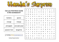Handa's Surprise Wordsearch