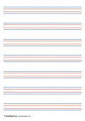Coloured Handwriting Lines - Large
