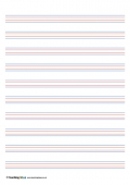 Coloured Handwriting Lines - Medium