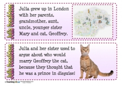 Julia Donaldson Fact Cards