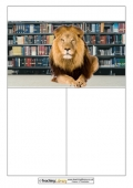 Lion in the Library Newspaper Template
