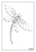 Mindfulness Colouring - Dragonfly