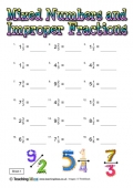 Mixed Numbers and Improper Fractions 1