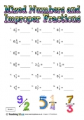 Mixed Numbers and Improper Fractions 4