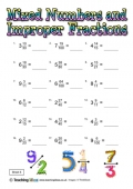 Mixed Numbers and Improper Fractions 5