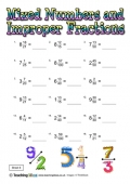 Mixed Numbers and Improper Fractions 6