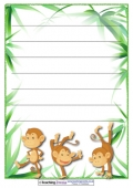 Monkey Paper Template