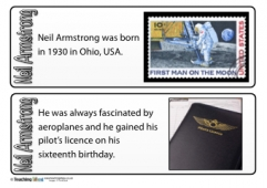 Neil Armstrong Fact Cards