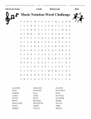 Notation Wordsearch