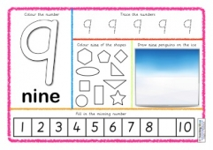 Number Activity Mats - 1 to 10
