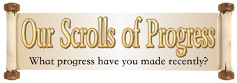 Our Scroll of Progress Banner