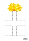 Paper Strip Christmas Present Template