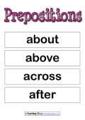 Prepositions Examples