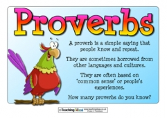 Proverbs Poster