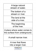 Rivers Vocabulary Definitions