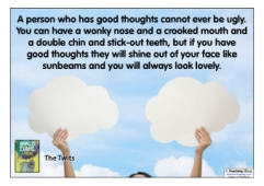 A person who has good thoughts...