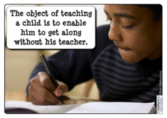 The object of teaching...